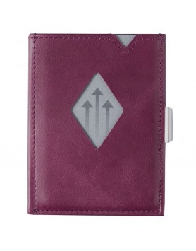 Exentri Wallet / leren portemonnee RFID paars