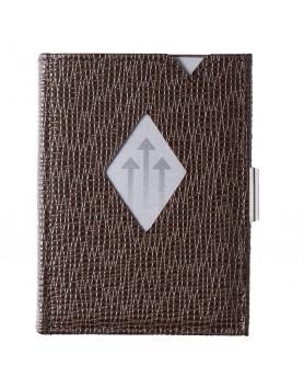 Exentri Wallet leer RFID blok - mosaic bruin