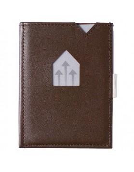 Exentri Wallet leer - RFID blok - bruin