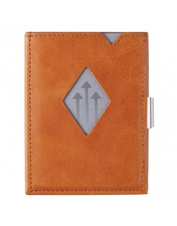Exentri Wallet / leren portemonnee RFID cognac