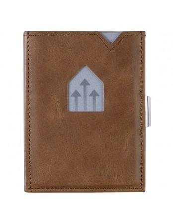Exentri Wallet / leren portemonnee RFID hazelnoot