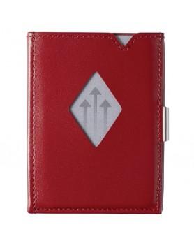 Exentri Wallet / leren portemonnee RFID rood