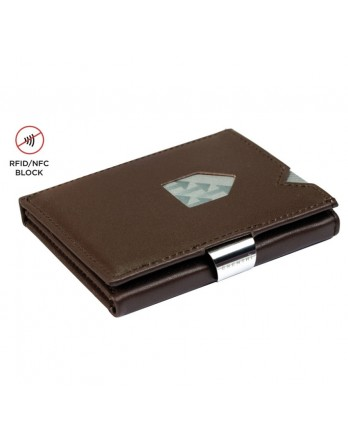 Exentri Wallet - leer - RFID blok - bruin