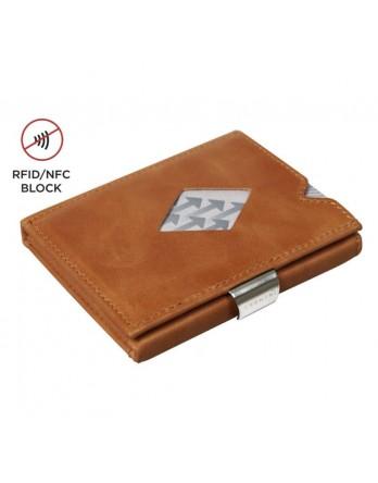 Exentri Wallet - leer - RFID blok - cognac