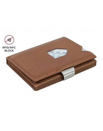 Exentri Wallet - leer - RFID blok - hazelnoot