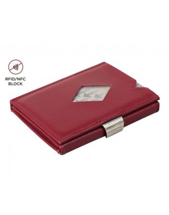 Exentri Wallet - leer - RFID blok - rood