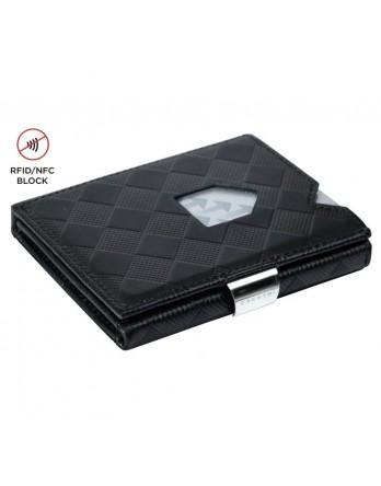 Exentri Wallet - leer - RFID blok - zwart chess