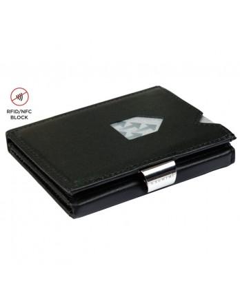 Exentri Wallet - leer - RFID blok - zwart