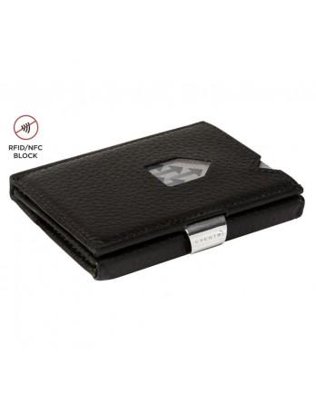 Exentri Wallet - leer - RFID blok - zwart structure