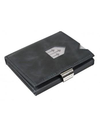 Exentri Wallet - leer - RFID blok - blauw