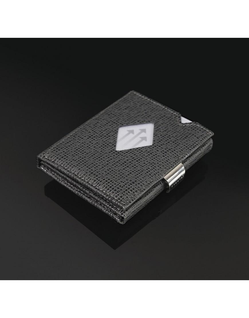 75391d8f13f Exentri Wallet - lederen portemonnee - RFID bescherming - mosaic zwart