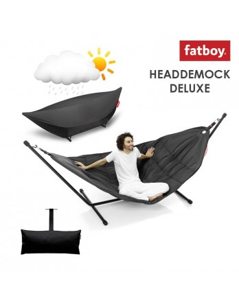 Fatboy Headdemock deluxe + pillow + cover - zwart