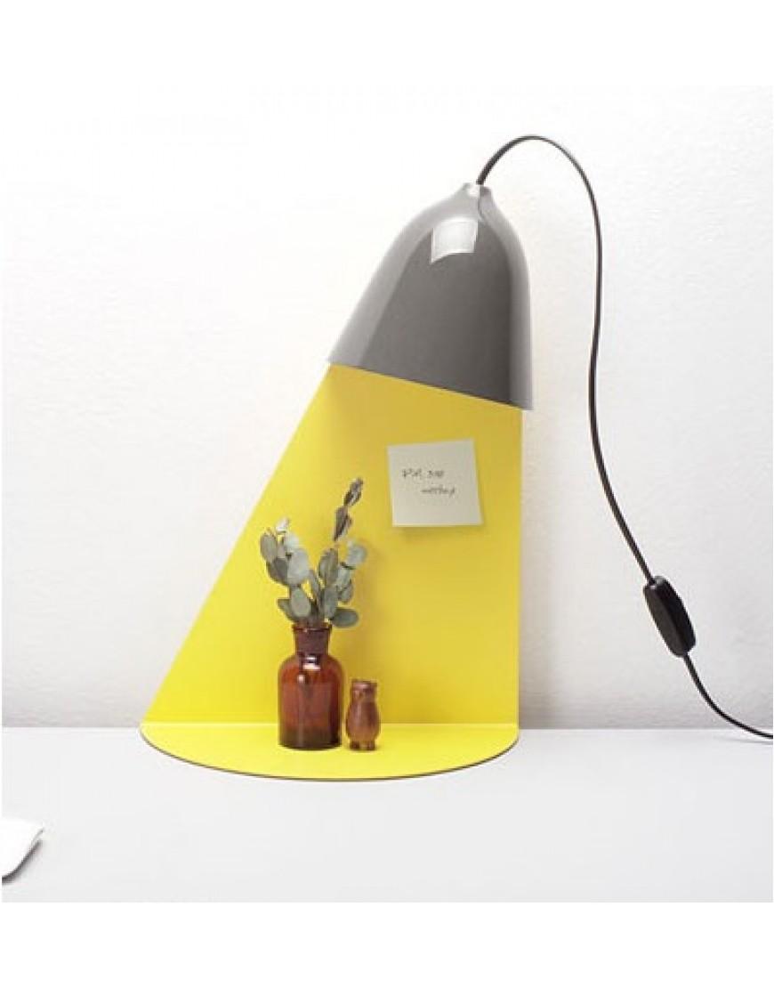 Wandplank Met Lamp.Ilsang Isang Light Shelf Wandlamp Met Tafel Grijs