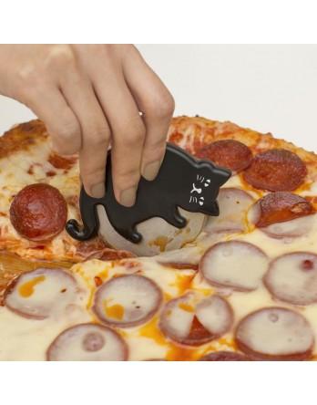 Kikkerland Cat lovers - kat pizza snijder zwart