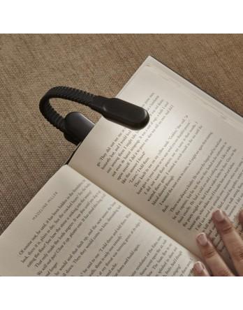 Kikkerland  Clip oplaadbare boekenlamp zwart
