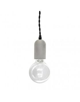 Kikkerland betonnen hanglamp cylinder