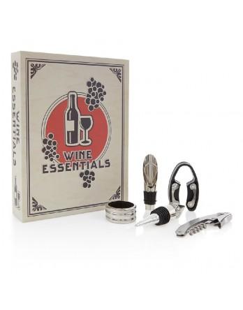 Kikkerland Wijnboek - set met wijntools - groot