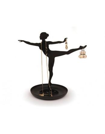 Kikkerland Jewelry Stand Ballerina zwart