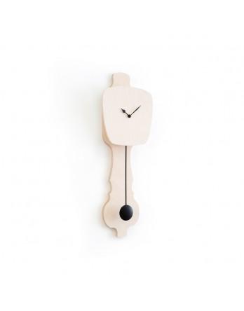 KLOQ wandklok blank hout small - kies wijzer / slinger