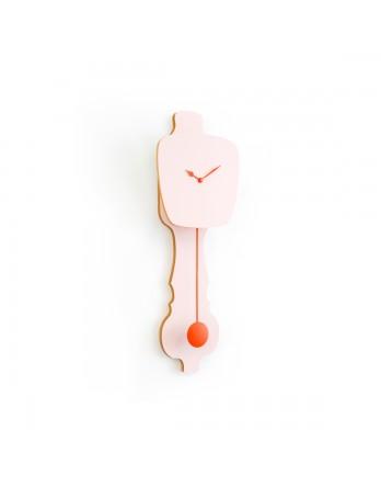 KLOQ wandklok perzik pastel small - kies wijzer / slinger