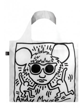 LOQI  vouwtas Museum | Keith Haring - Andy Mouse