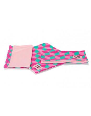 Happy Sinks by Magisso - vaatdoek roze geblokt 3st.
