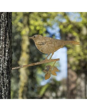 Metalbird - Cortenstalen vogelsilhouet - Merel