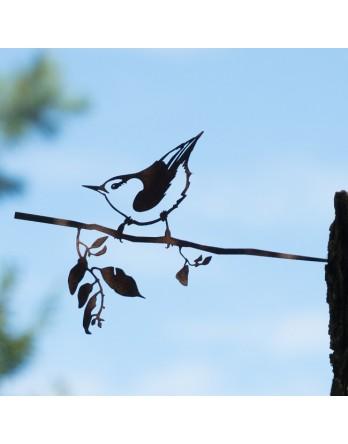Metalbird - Vogelsilhouet cortenstaal - Boomklever