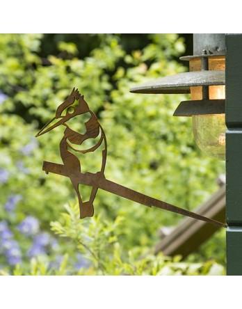 Metalbird - Vogelsilhouet cortenstaal - IJsvogel