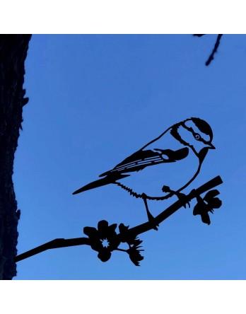 Metalbird Pimpelmees cortenstaal