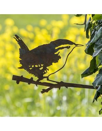 Metalbird - Vogelsilhouet cortenstaal - Winterkoninkje