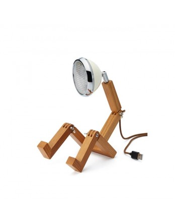 Mr Wattson mini tafellamp USB designlamp LED wit