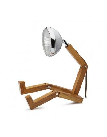 Mr Wattson houten designlamp LED nardo grey