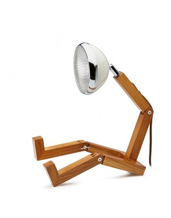 Mr Wattson retro houten designlamp LED wit