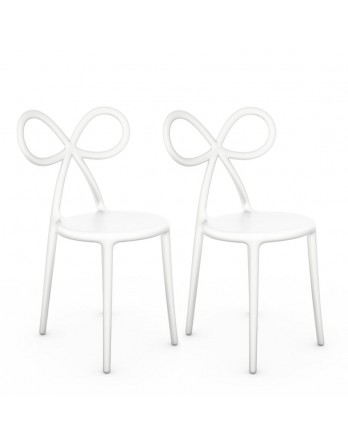 Qeeboo Ribbon Chair / Stoel - set 2 stuks - wit