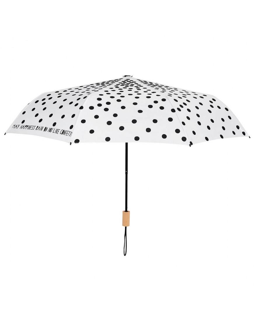 Paraplu Vouwen Van Theedoeken.Rader Opvouwbare Paraplu Stippen