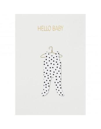 Räder wenskaart / kaart hello baby
