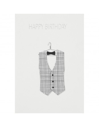 Räder wenskaart / kaart happy birthday suit