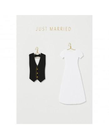 Räder wenskaart / kaart just married