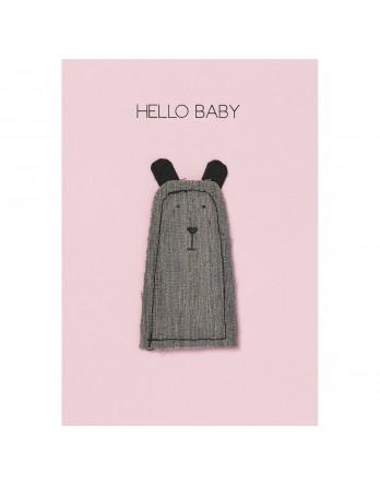 Räder wenskaart / geboortekaart hello baby