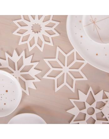 Räder kerst tafelsterren 6 stuks kerstdecoratie