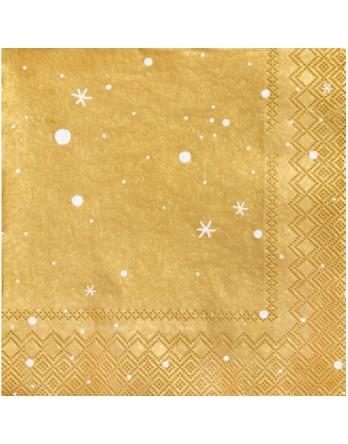 Räder kerstservetten - sterren - goud