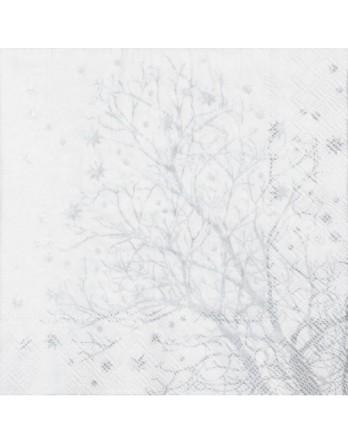 Räder kerstservetten - zilveren takken