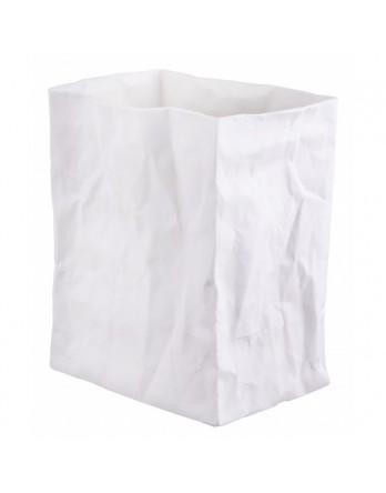 Räder vaas papieren zak - porselein wit - groot