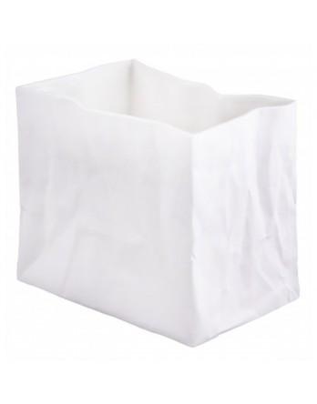 Räder vaas papieren zak - porselein wit - medium