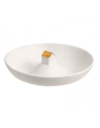 Räder bordje wit met gouden huis diam. 14.5cm