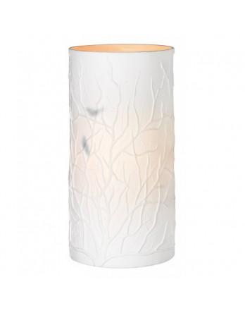 Räder Lamp Takken - wit cylinder met vogels H.22cm