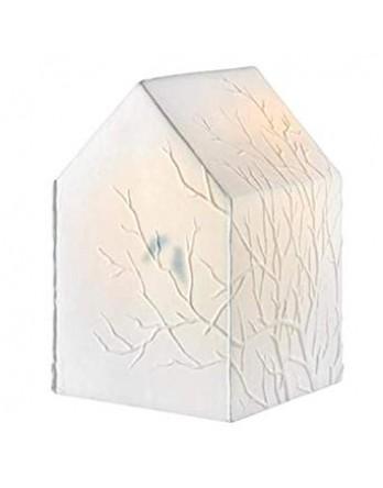 Räder Lamp Takken - wit huis met vogels H.19cm