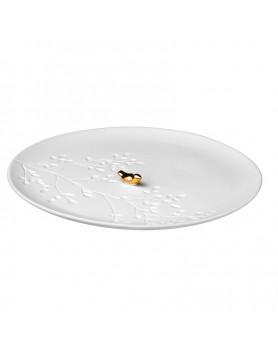Räder porseleinen bordje met gouden vogel