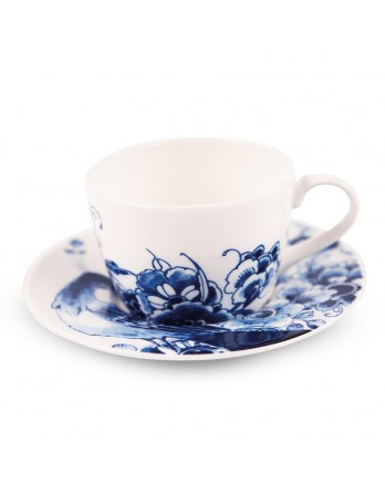 Royal Delft servies Peacock Symphony thee kop/schotel